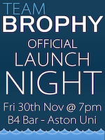 Team Brophy Launch Party
